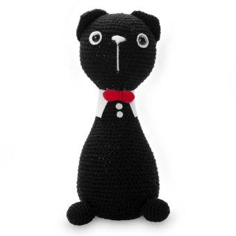 Mèo đứng đen Bobi Craft 013BLA-L 24cm