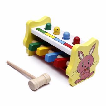 Đồ chơi búa đập thỏ bằng gỗ cho bé