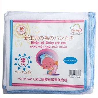 Túi 10 khăn sữa 02 lớp 34x34(cm) 100% cotton
