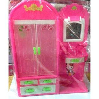 Tủ quần áo búp bê TU01 (hồng)(Pink)