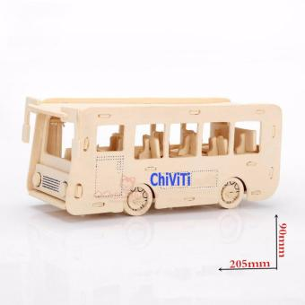 Đồ chơi xếp hình 3D mô hình xe Bus