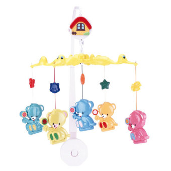 Đồ chơi treo nôi nhạc-Plastic bears with sweets Canpol 2/971