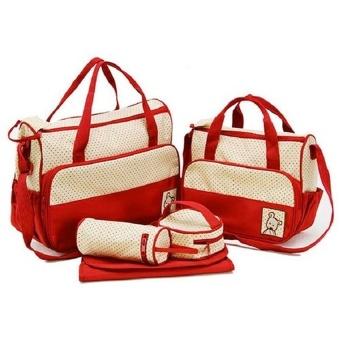 Bộ túi 5 chi tiết cho mẹ và bé ROYALKID (Đỏ)