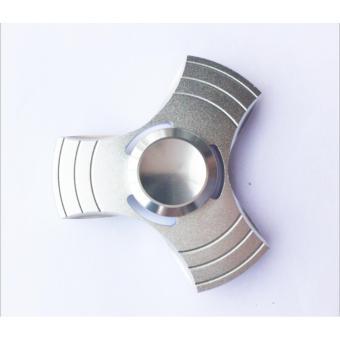 Con quay 3 cánh Fidget Spinner không ma sát xả stress màu bạc ( Hàng cao cấp loại 1)