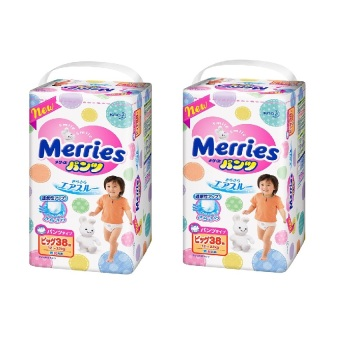 Bộ 2 tã quần Merries XL38