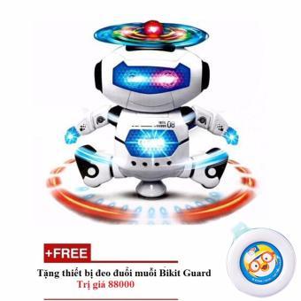 Robot không gian nhảy múa theo nhạc (Xanh)+ Tặng thiết bị gắn xua muỗi cho trẻ Bikit Guard