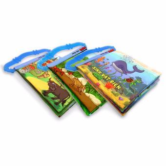 Bộ 3 sách vải có quai sillicon Pipo Vietnam (Sinh vật biển, côn trùng, động vật)