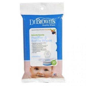 Gói 30 Khăn Lau Kháng Khuẩn Xylitol Bình Sữa Và Ti Ngậm cho bé 0m+ Drbrown's baby