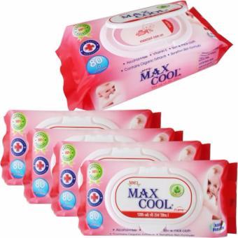 Combo 3 gói khăn ướt Max Cool 80 tờ, có hương