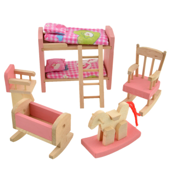 Wooden Doll Bathroom Furniture-Bunk bed