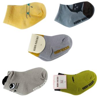 Bộ 5 đôi Tất Kiddy Socks cho bé yêu từ 6 tháng- 3 tuổi