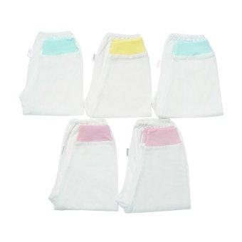 Bộ 5 quần dài rã đáy trắng bo Nanio QN001