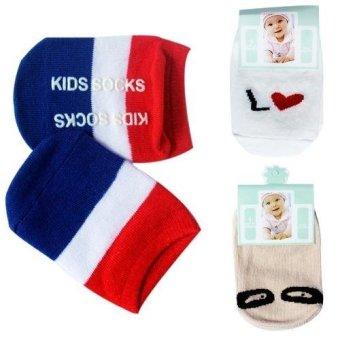 Bộ 4 đôi Tất Kiddy Socks cho bé yêu từ 0 - 24 tháng tuổi