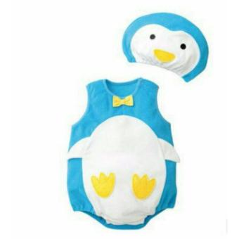 Set áo body + nón hình chim cánh cụt