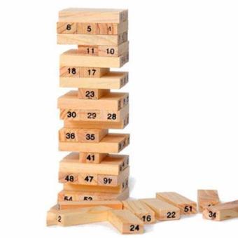 Bộ trò chơi rút gỗ thông minh (Nâu)