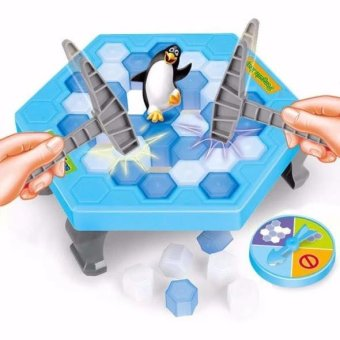 Bộ trò chơi bẫy chim cánh cụt - phá băng(Xanh dương nhạt)