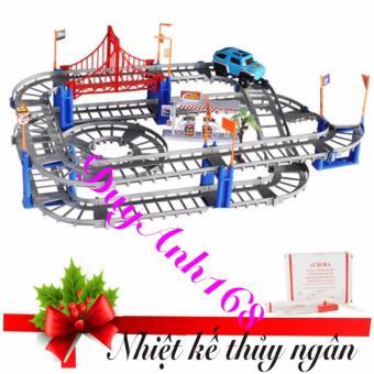 Bộ đồ chơi cao cấp lắp ráp đường ray cho ô tô ,xe lửa chạy phát triển trí thông minh cho bé. + Nhiệt kế thủy ngân