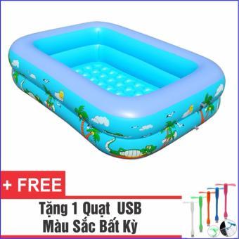 Bể Bơi Phao Cho Bé 120cm + Tặng 1 Quạt USB tiện dụng