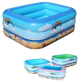 Bể bơi phao 3 tầng cho bé 130x100x55cm (xanh)