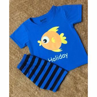 Bộ quần áo trẻ em in hình con cá KID003A