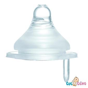Ty bình sữa Simba Silicone cổ rộng size M (lỗ tròn)