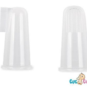 Rơ lưỡi xỏ ngón Silicone Upass UP4002C đôi (Trắng)