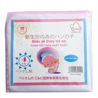 Túi 10 khăn sữa 04 lớp 35x35(cm) 100% cotton