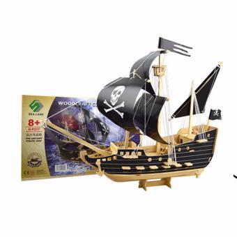 Bộ xếp hình 3D mô hình tàu Ngọc Trai Đen