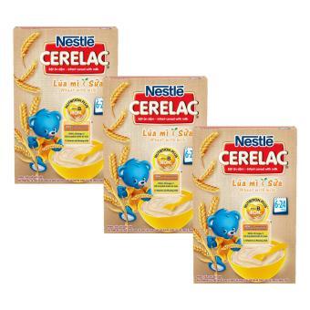 Bộ 3 bột ăn dặm Nestlé CERELAC Lúa mì sữa