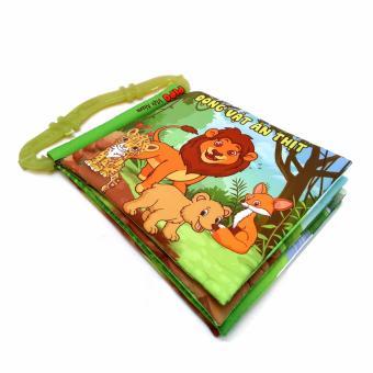 Sách vải kèm gặm nướu Pipo Việtnam chủ đề Động vật ăn thịt hoang dã