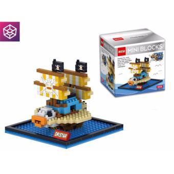 Mô hình lắp ráp Mini Block 659 Tàu One Piece Baratie