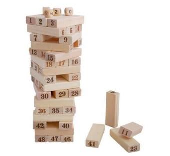 Đồ chơi rút gỗ số 48 thanh 4 xí ngầu cho trẻ em và người lớn sopifun