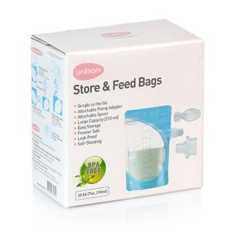 Túi Trữ Sữa Mẹ Và Thức Ăn Cho Bé Ăn Trực Tiếp Bằng Thìa Unimom Loại 20 Túi