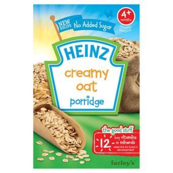 Bột ăn dặm Heinz breakfast cháo kem yến mạch cho bé 4m+ 125g(Natural)