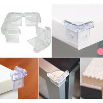 Vỉ 4 Miếng Nhựa Dẻo Bịt Góc Bàn Trong Suốt KM 365