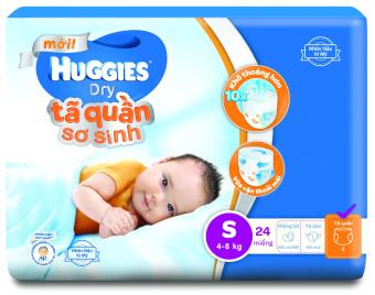 Tã quần sơ sinh Huggies NB-S24 24 miếng (Xanh)
