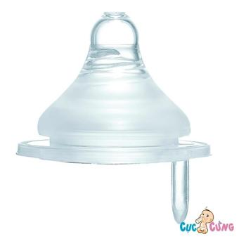 Ty bình sữa Simba Silicone cổ rộng size S (lỗ cộng)