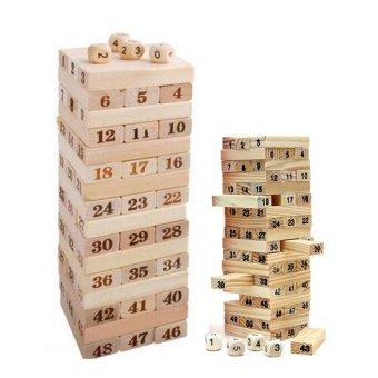Bộ 2 bộ đồ chơi rút gỗ 48 và 54 thanh Huy Tuấn