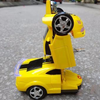 Xe ô tô biến hình siêu nhân ( vàng ) T2-58