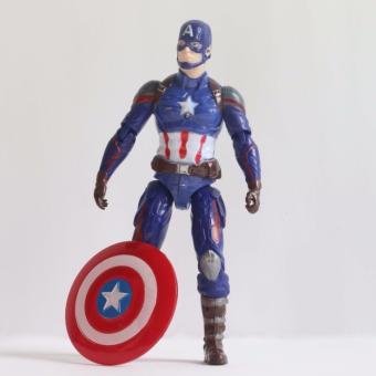 Bộ sản phẩm ba mô hình nhân vật Marvel Captain America, Hawkeye và Falcon