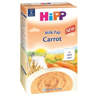 Bột ăn dặm HIPP Bột sữa và rau củ cà rốt - Hộp 260g