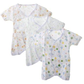 Bộ 3 áo liền quần vải xô cho bé sơ sinh