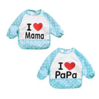 Bộ 2 yếm áo nilon cho bé ăn dặm Love Mama & Papa