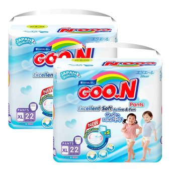 Bộ 2 gói tã quần Goon Jumbo XL22 (12-17 kg)