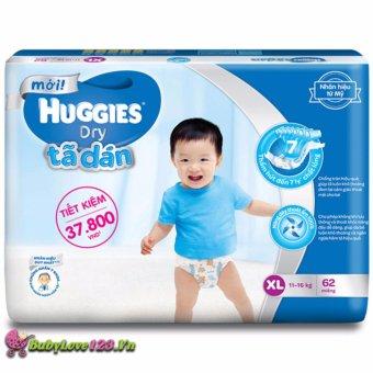 Tã dán Huggies Dry XL62