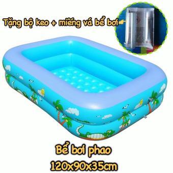 Bể bơi phao có chống trượt tặng kèm keo dán và miếng vá bể bơi