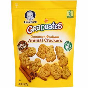 Bánh qui hình thú ăn dặm cho bé từ 10 tháng Gerber Graduates Crackers