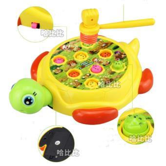 Bộ trò chơi đập chuột có hình con rùa(Vàng)
