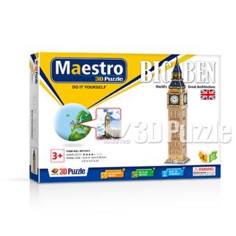 Xếp hình giấy 3D Tháp Đồng Hồ Big Ben