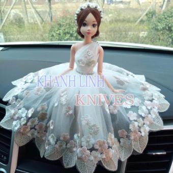 Búp bê trang trí ô tô cao cấp (váy xanh)